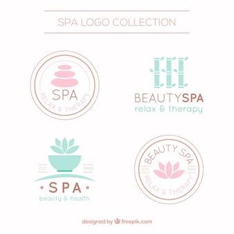 Leuke spa-logotype sjablonen