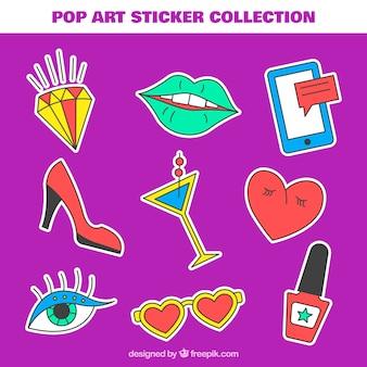 Leuke stickers met handgetekende stijl