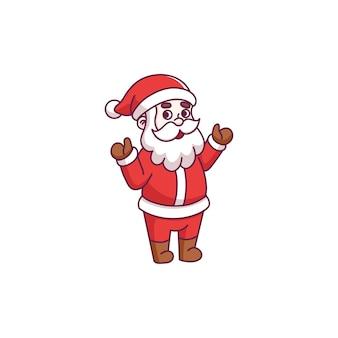 Leuke stripfiguur van de kerstman