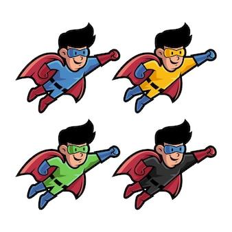 Leuke superheldenmascotte