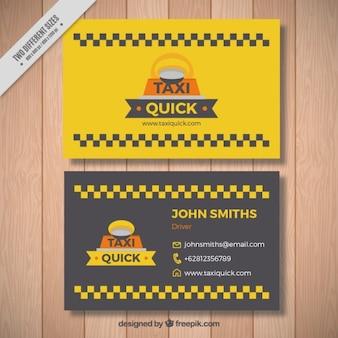 Leuke taxi kaart met vierkanten