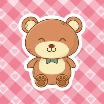 Leuke teddybeer cartoon