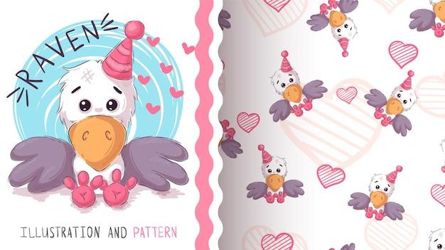 Leuke teddyraaf - naadloos patroon