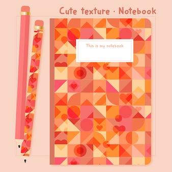 Leuke textuur notitieboekje