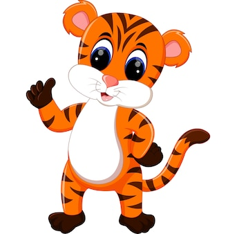 Leuke tijger cartoon duim opgevend