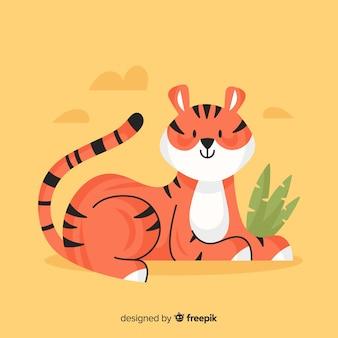 Leuke tijgerachtergrond