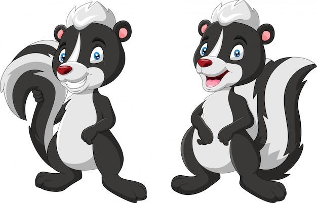 Leuke twee stinkdieren cartoon afbeelding