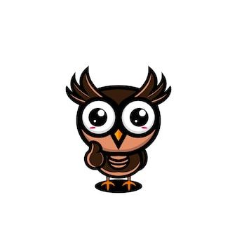 Leuke uil karakter ontwerp vector illustratie cartoon