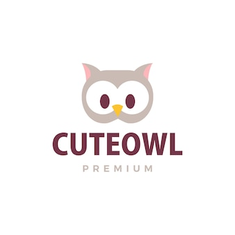Leuke uil logo pictogram illustratie