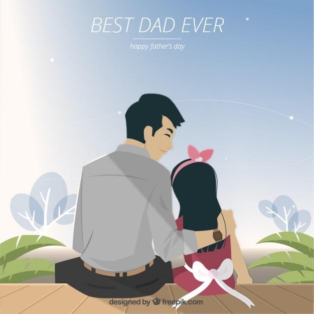Leuke vaderdag illustratie