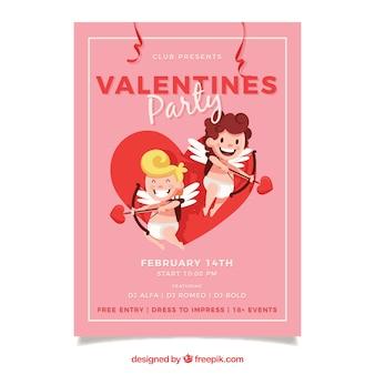 Leuke valentijn flyer sjabloon