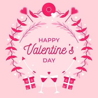 Leuke valentijnsdag achtergrond met groet