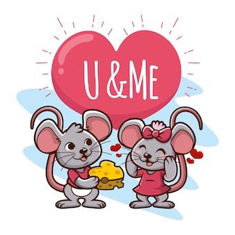 Leuke valentijnsdag dieren paar