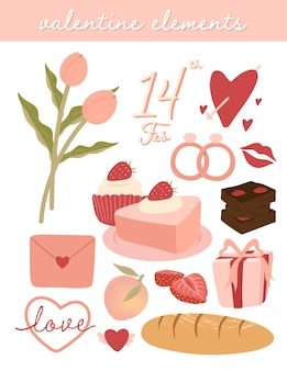 Leuke valentijnsdag elementen instellen