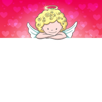 Leuke valentijnsdag kaart met schets cupido
