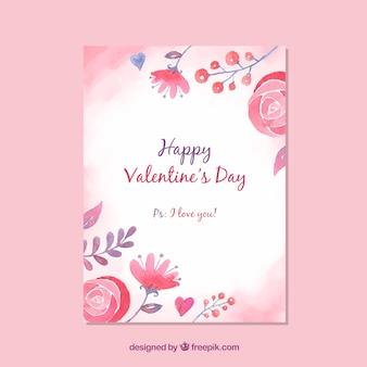 Leuke valentijnsdag kaartsjabloon