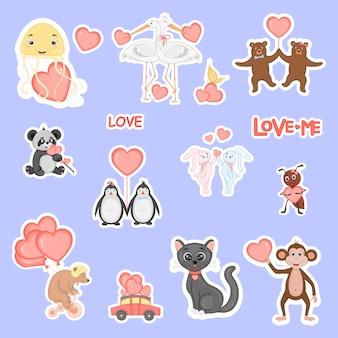 Leuke valentijnsdieren.