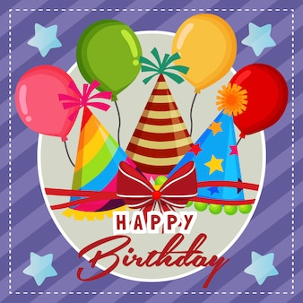 Leuke verjaardag ballon feestmuts