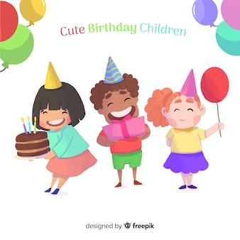 Leuke verjaardag kinderen achtergrond