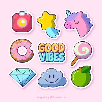 Leuke verscheidenheid aan grappige stickers