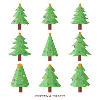 Leuke verzameling kerstbomen