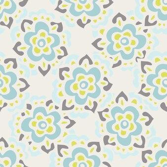Leuke vintage bloemenprint. bloemen vector patroon