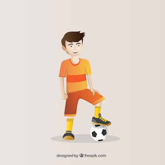 Leuke voetballer