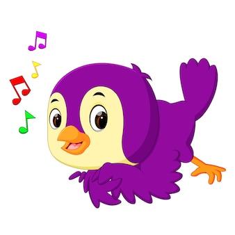 Leuke vogel cartoon