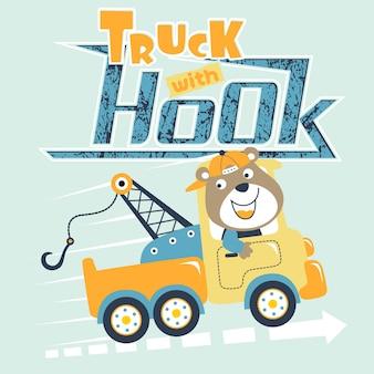 Leuke vrachtwagenchauffeur cartoon