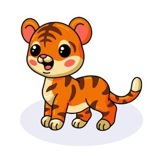 Leuke vrolijke baby tijger cartoon