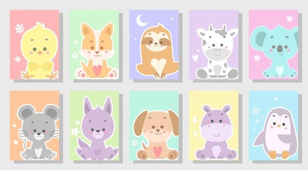 Leuke vrolijke dieren set