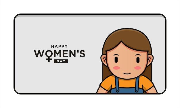 Leuke vrouw met de daggroet van gelukkige vrouwen