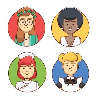 Leuke vrouwen avatars