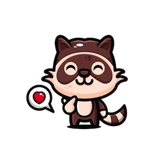 Leuke wasberen karakterontwerp thema gelukkig