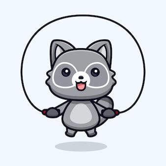 Leuke wasberen trainen in de sportschool vectorillustratie dierlijk karakter