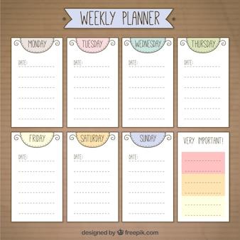 Leuke weekly planner