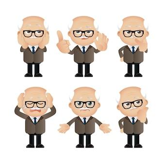 Leuke zakenmensen met verschillende poses