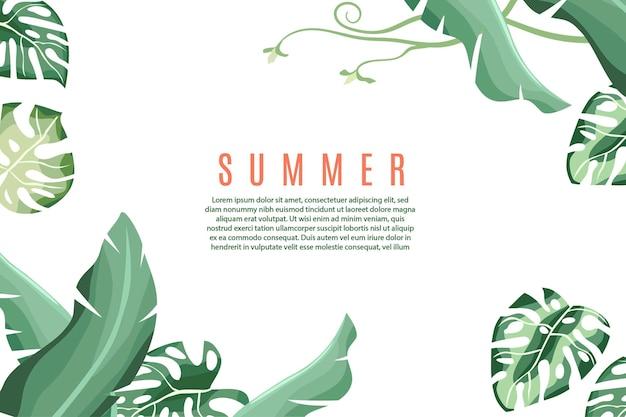 Leuke zomer illustratie