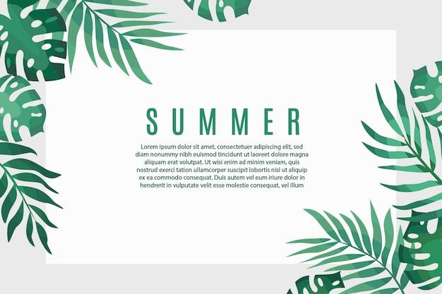 Leuke zomerbannerillustratie