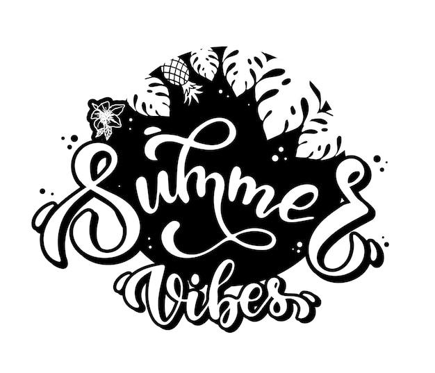Leuke zomerposter, printontwerp