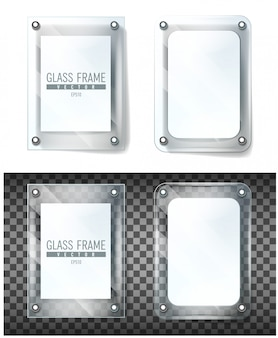 Leuningen met glas voor reclame. glazen balustrade met metalen leuningen. afrasteringsprofielen met stalen pilaren. panelen balusters voor architectuur of bouwen