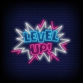 Levelup neonreclamestijl