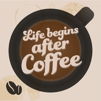 Leven begint na de koffie