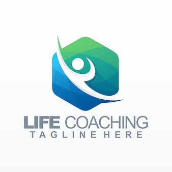 Leven coaching logo sjabloon
