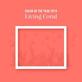 Levende koraal achtergrond