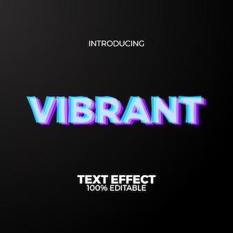 Levendig neon kleuren bewerkbaar teksteffect voor toekomstig modern