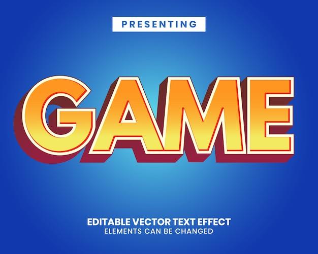 Levendig oranje teksteffect voor gametitel