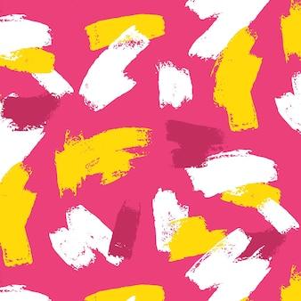 Levendige abstracte penseelstreken patroon sjabloon