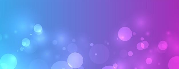 Levendige bokeh verlicht banner met tekstruimte Gratis Vector