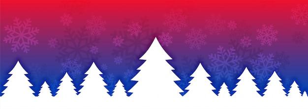 Levendige kerstboom banner voor festivalseizoen